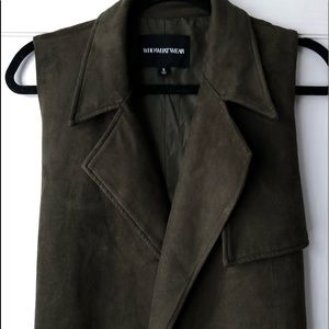 Who What Wear Olive Green Suede Vest